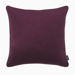 Bordeaux Piping Cushion with Leather by Louise Roe for Louise Roe Copenhagen