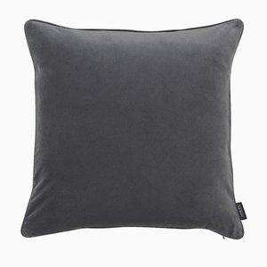 Cuscino Piping grigio in pelle di Louise Roe per Louise Roe Copenhagen