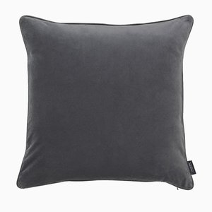 Evening Grey Piping Cushion with Leather by Louise Roe for Louise Roe Copenhagen