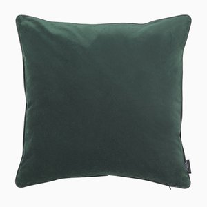 Jade Green Piping Cushion with Leather by Louise Roe for Louise Roe Copenhagen
