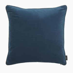 Royal Blue Piping Cushion with Leather by Louise Roe for Louise Roe Copenhagen