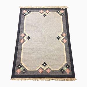 Scandinavian Röllakan Woollen Carpet, 1950s