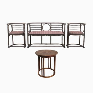Antique Living Room Set by Josef Hoffmann for Mundus