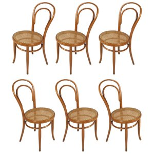 Model 14 Chairs from Thonet, 1930s, Set of 6