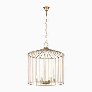 Lámpara de araña Cage mediana de Niccolo De Ruvo para Brass Brothers