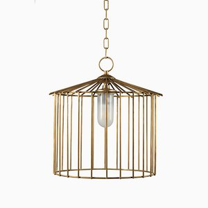 Medium Cage Chain Outdoor Pendant by Niccolo De Ruvo for Brass Brothers