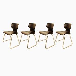 Chaises Empilables par Adam Stegner pour Flötotto, 1970s, Set de 4