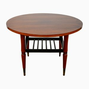 Mid-Century Italian Round Coffee Table from FGS, 1950s