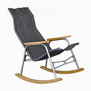 Rocking Chair en Cuir par Takeshi Nii, 1950s