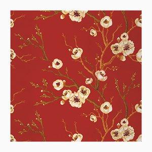 Сherry-tree_1 Wandverkleidung mit Stoff von Chiara Mennini für Midsummer-Milano