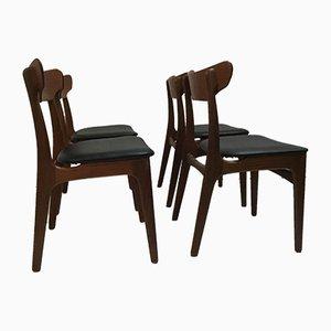 Sedie da pranzo di Schiønning & Elgaard per Randers Møbelfabrik, anni '60, set di 4