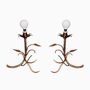 Französische Jugendstil Tischlampen, 1920er, 2er Set