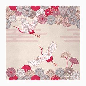 Ambiente Flower and Chevron 3 Wandverkleidung mit Stoffbezug von Chiara Mennini für Midsummer-Milano