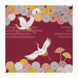 Ambiente Flower and Chevron 4 Wandverkleidung mit Stoffbezug von Chiara Mennini für Midsummer-Milano
