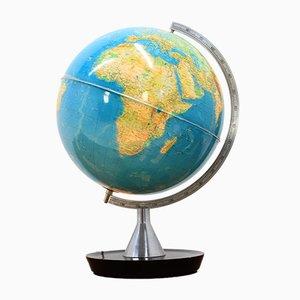 Beleuchteter Mid-Century Globus, 1970er