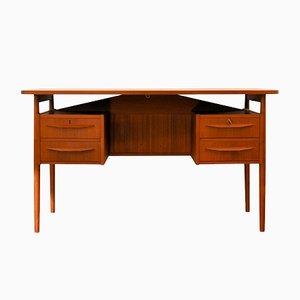 Vintage Schreibtisch aus Teak von Gunnar Nielsen Tibergaard, 1960er