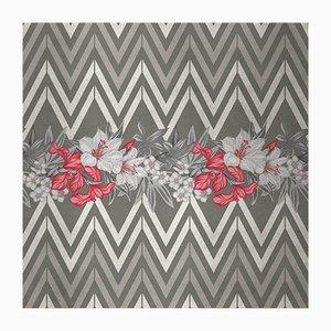 Flowers and Chevron 3 Wandverkleidung mit Stoffbezug von Chiara Mennini für Midsummer-Milano