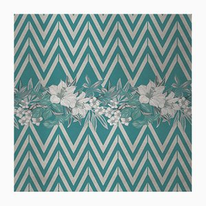 Flowers and Chevron Pattern 4 Fabric Wall Covering by Chiara Mennini for Midsummer-Milano
