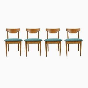 Chaises de Salon Vintage en Teck, 1960s, Set de 4