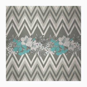 Flowers and Chevron Pattern 5 Wandverkleidung mit Stoffbezug von Chiara Mennini für Midsummer-Milano
