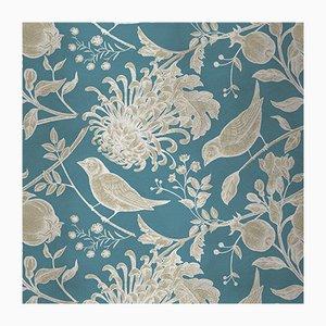 Flowers and Birds 1 Wandverkleidung mit Stoffbezug von Chiara Mennini für Midsummer-Milano