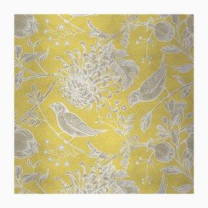 Flowers and Birds 2 Wandverkleidung mit Stoffbezug von Chiara Mennini für Midsummer-Milano
