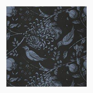 Revêtement Mural Flowers and Birds 4 en Tissu par Chiara Mennini pour Midsummer-Milano