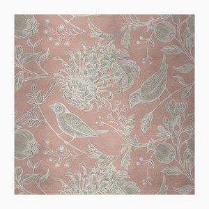Cubierta mural de tela con flores y pájaros 5 de Chiara Mennini para Midsummer-Milano