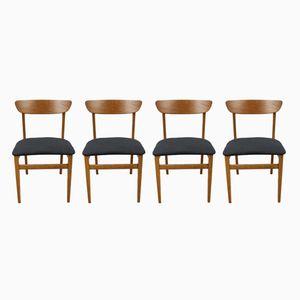Vintage Esszimmerstühle aus Teak, 1960er, 4er Set