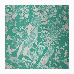 Revêtement Mural Hummingbird 4 en Tissu par Chiara Mennini pour Midsummer-Milano