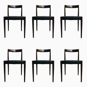 Mid-Century Esszimmerstühle aus Teak von Lübke, 1960er, 6er Set