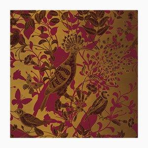 Hummingbird 5 Wandverkleidung mit Stoffbezug von Chiara Mennini für Midsummer-Milano
