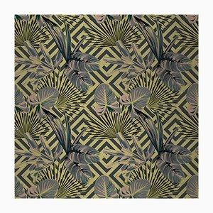 Jungle Dream 2 Wandverkleidung mit Stoffbezug von Chiara Mennini für Midsummer-Milano