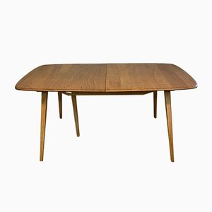 Large Vintage Solid Blonde Elm Windsor Extendable Dining Table by Lucian Ercolani for Ercol