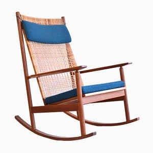 Rocking Chair en Teck par Hans Olsen pour Juul Kristensen, 1956