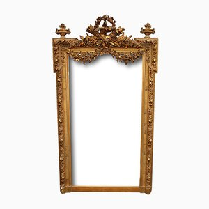 French Giltwood Mirror with Beveled Plate, 1860s