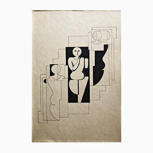 Lithographie par Willi Baumeister,1921