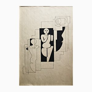 Lithography by Willi Baumeister, 1921