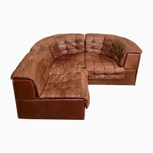 Vintage Cognac Leather DS-11 Modular Sofa from de Sede, 1970s