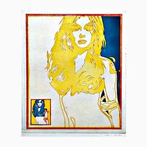 Blondi Farbradierung von Werner Berges, 1975