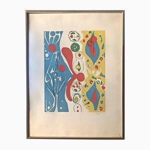 Spiele Des Menschen Aquatint Etching by Ernst Wilhelm Nay, 1965