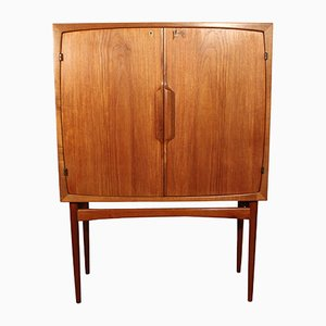 Vintage Teak Scandinavian Model Bacchus Bar by Torbjorn Afdal for Mellemstrands Mobelfabrik, 1960
