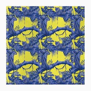 Leopards on Tree 2 Wandverkleidung mit Stoffbezug von Chiara Mennini für Midsummer-Milano