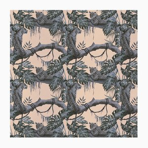 Leopards on Tree 3 Wandverkleidung mit Stoffbezug von Chiara Mennini für Midsummer-Milano