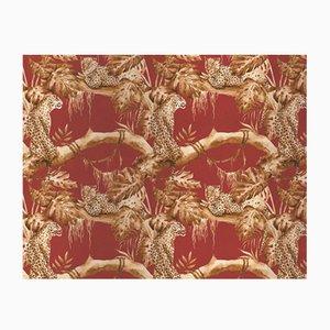 Leopards on Tree 4 Wandverkleidung mit Stoffbezug von Chiara Mennini für Midsummer-Milano