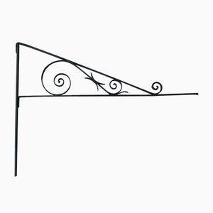 Antike Ladenschild-Wandhalterung aus Schmiedeeisen