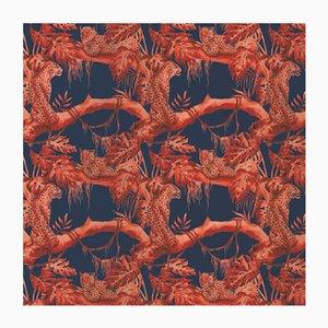 Leopards on Tree 5 Stoff Wandbekleidung von Chiara Mennini für Midsummer-Milano