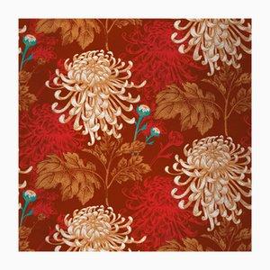 Mixed Dahlia 1 Fabric Wall Covering by Chiara Mennini for Midsummer-Milano