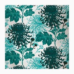 Mixed Dahlia 4 Wandverkleidung mit Stoffbezug von Chiara Mennini für Midsummer-Milano