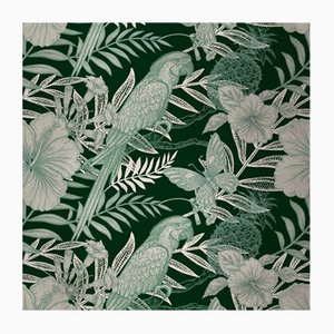Parrots 4 Fabric Wall Covering by Chiara Mennini for Midsummer-Milano